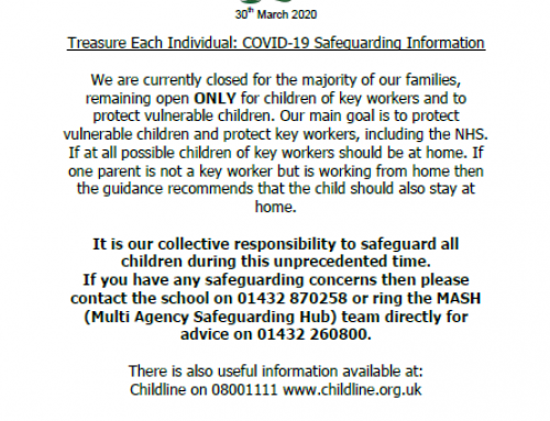 COVID-19 Safeguarding Information