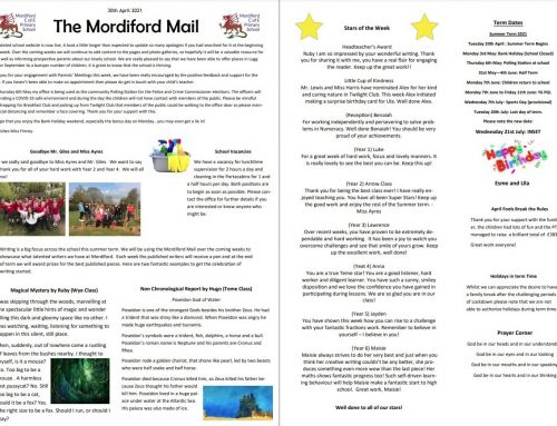 Mordiford Mail – 30th April 2021