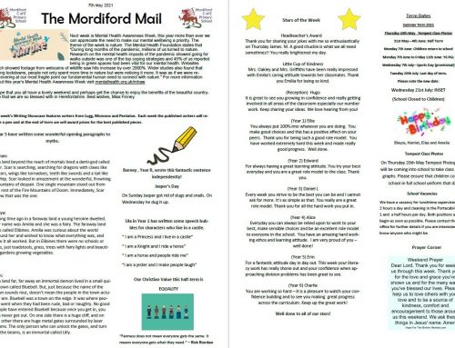 Mordiford Mail – 7th May 2021