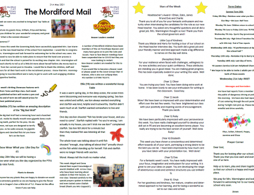 Mordiford Mail – 21st May 2021