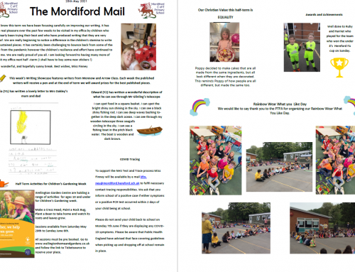 Mordiford Mail – 28th May 2021