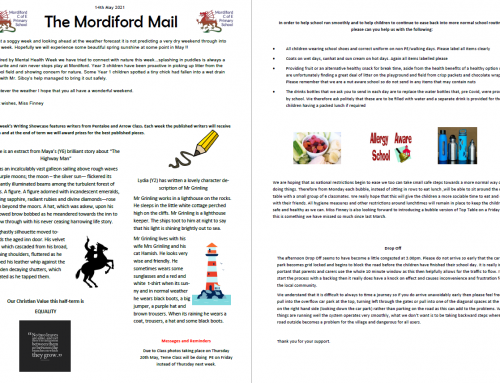 Mordiford Mail – 14th May 2021