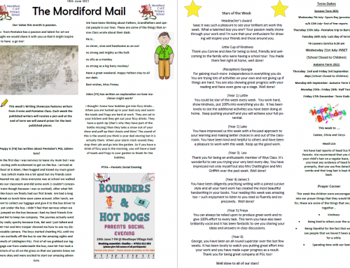 Mordiford Mail – 18th June 2021