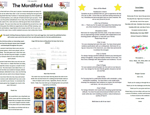 Mordiford Mail – 11th June 2021