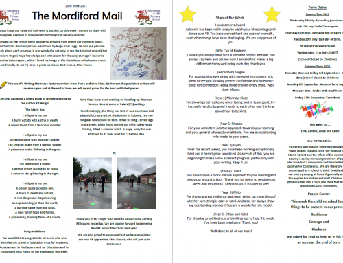 Mordiford Mail – 2nd July 2021