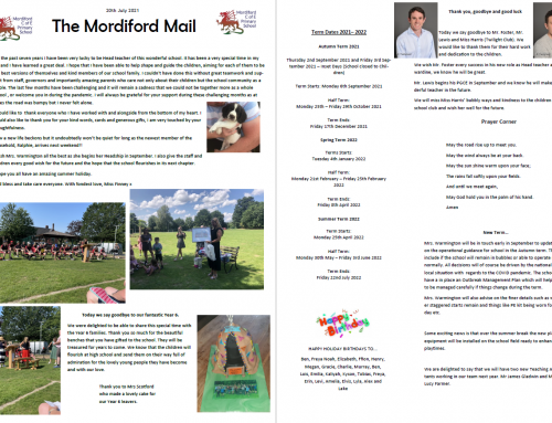Mordiford Mail – 20th July 2021