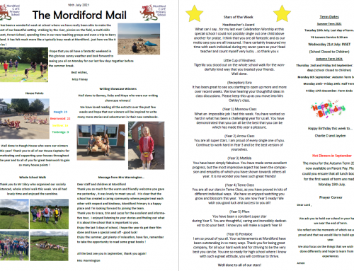 Mordiford Mail – 16th July 2021