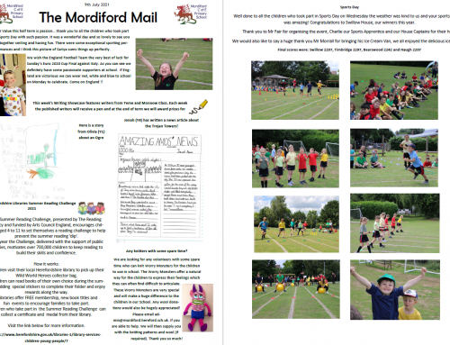 Mordiford Mail – 9th July 2021