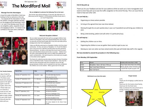 Mordiford Mail – 10th September 2021