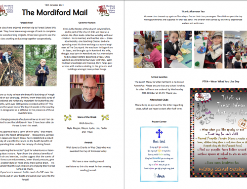 Mordiford Mail – 15th October 2021